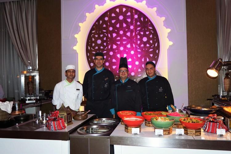 a palatial Ramadan tent at Marsa Malaz