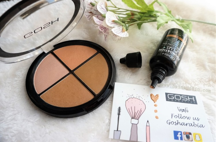 gosh arabia foundation plus cover and conceal and contour and strobe kit
