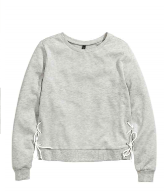 sweatshirt with lacing hm