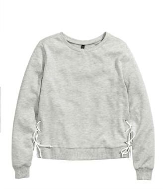 sweatshirt with lacing hm