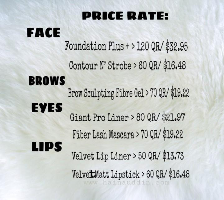 gosh arabia price rate