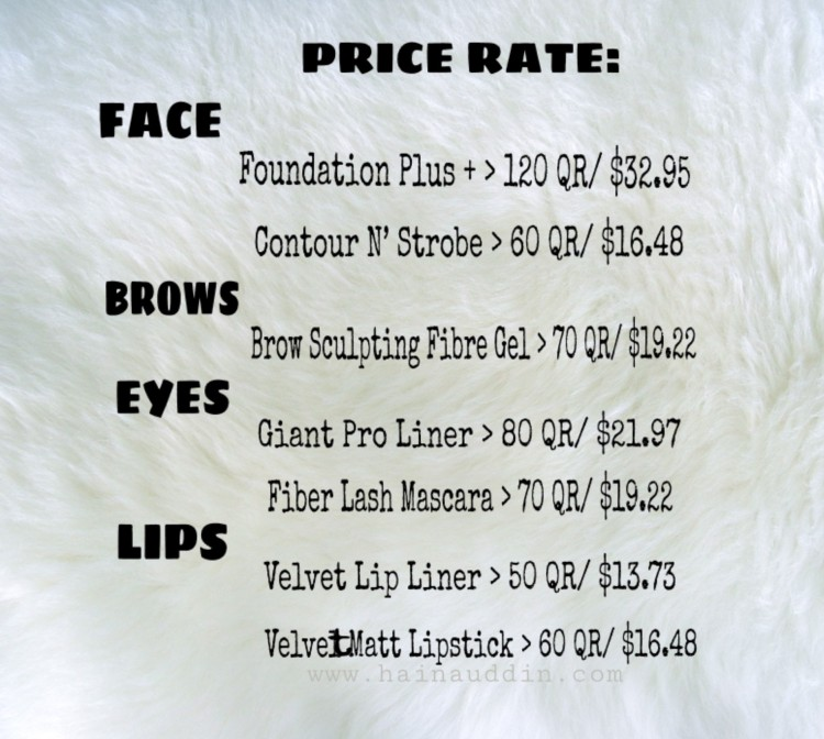 gosh arabia price rate