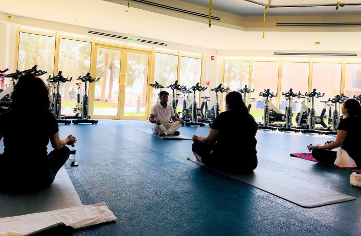 Power slimming yoga at Intercon Doha