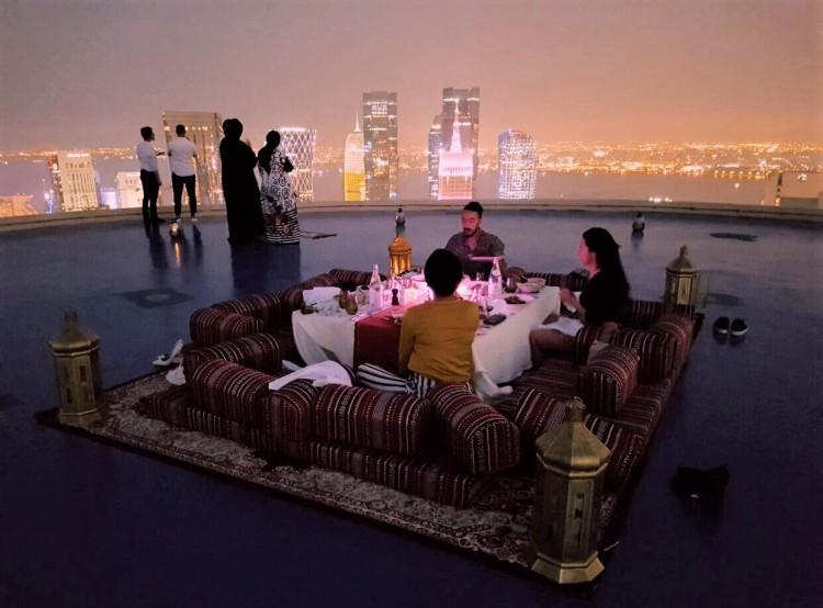 frasersuiteswestbay helipad iftar